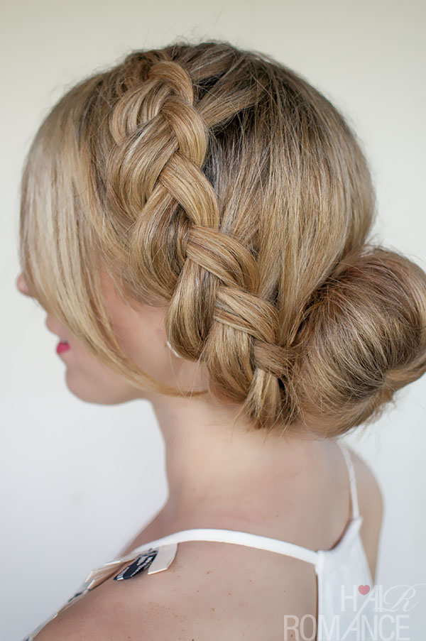 Hair Romance - big braided bun and winter hair care tips