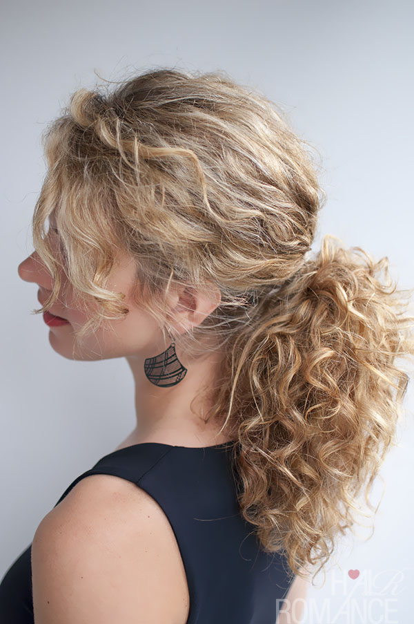Marvelous Curly Hairstyle Tutorial The Curly Ponytail Hair Romance Natural Hairstyles Runnerswayorg