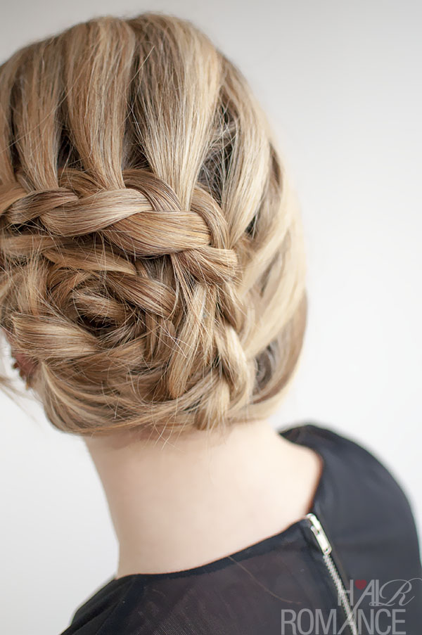 Hair Romance - curved lace braid updo hairstyle