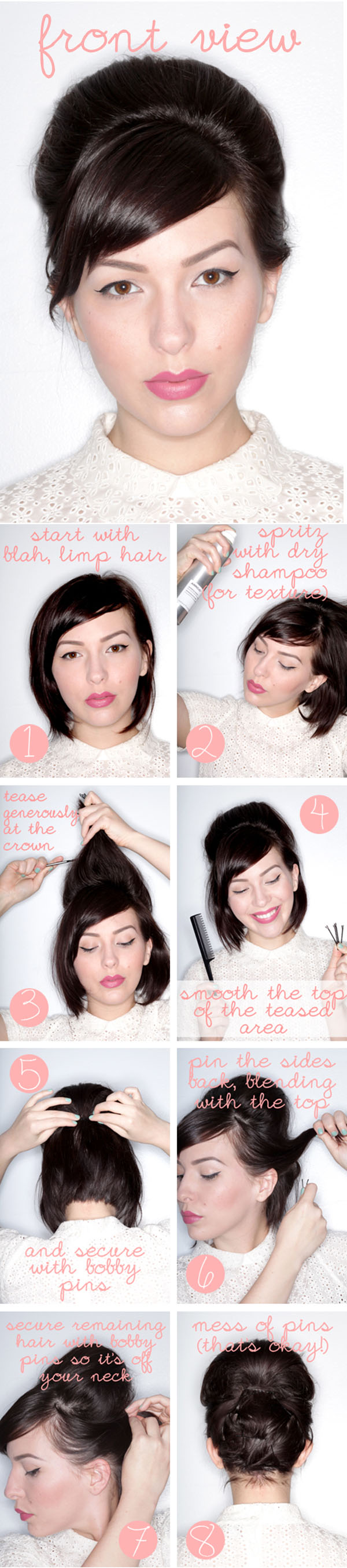 Keiko Lynn - updo for short hair tutorial