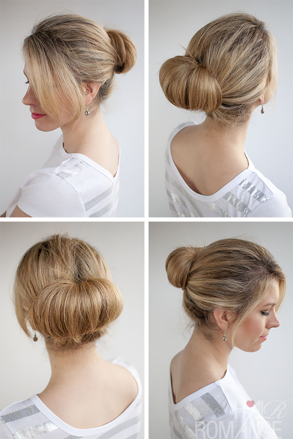 Hair Romance - 30 Buns in 30 Days - 1 - Flip Bun Hairstyle