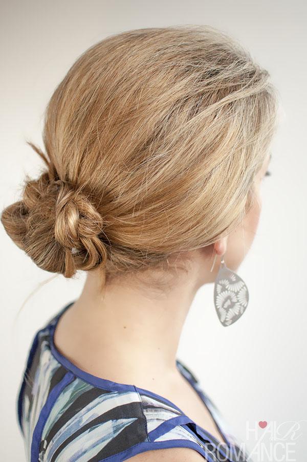 30 Buns in 30 Days - Day 13 - Braided bun - Hair Romance