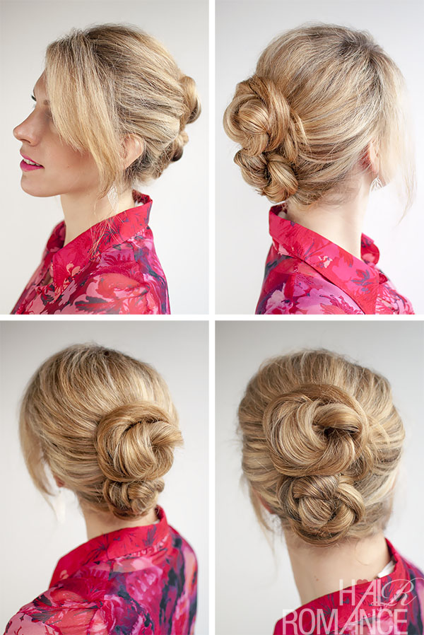 Hair Romance - 30 Buns in 30 Days - Day 14 - Double Braid Buns Hairstyle