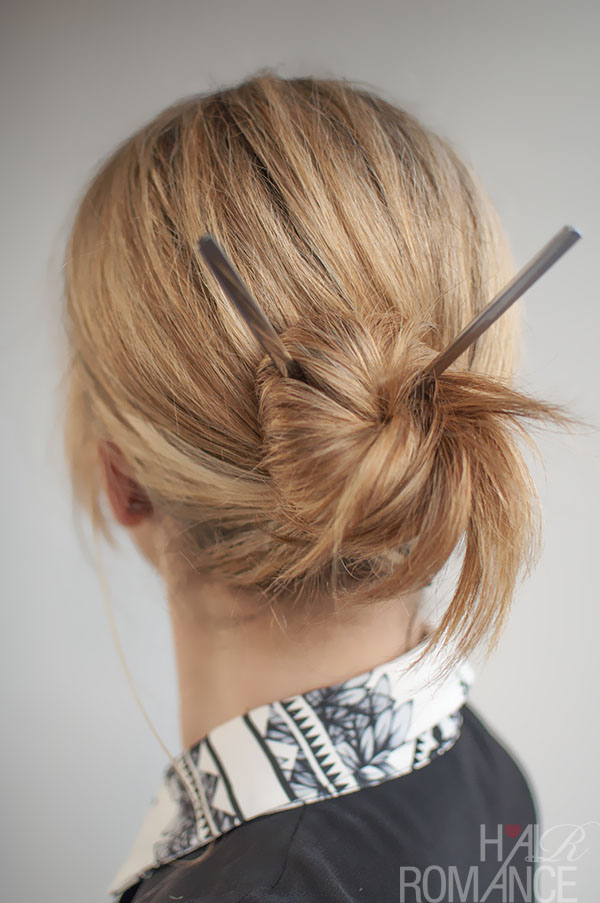 Hair Romance - 30 Buns in 30 Days - Day 17 - Chopstick Bun Hairstyle