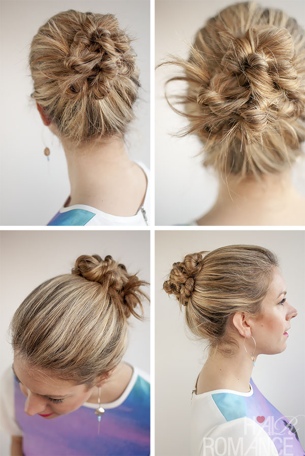 Hair Romance - 30 Buns in 30 Days - Day 19 - Twist and Pin Bun Hairstyle