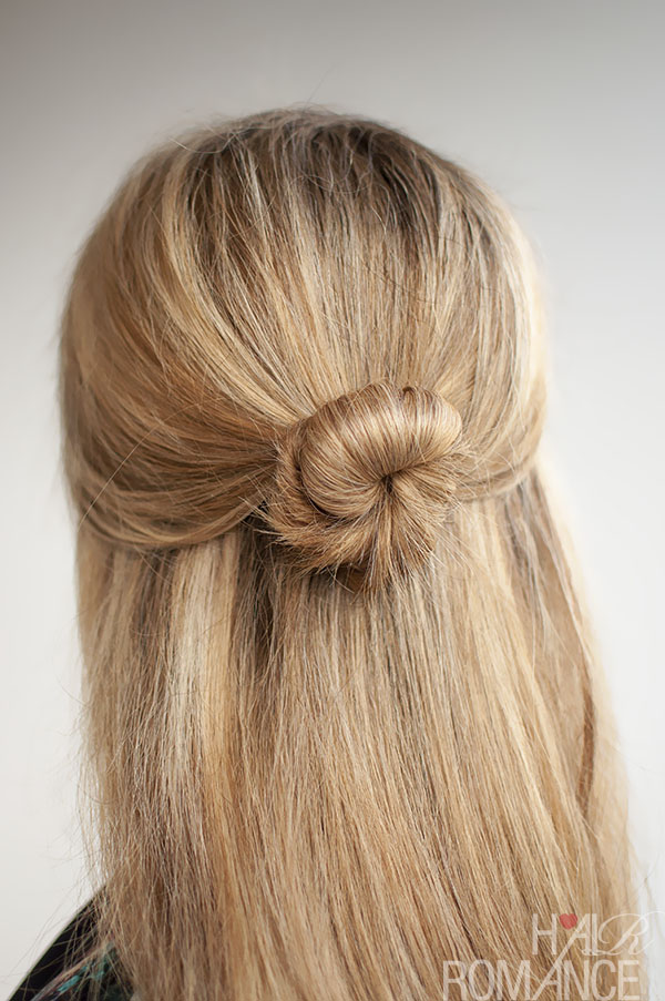 30 Buns In 30 Days Day 5 Half Up Bun Hairstyle Hair Romance