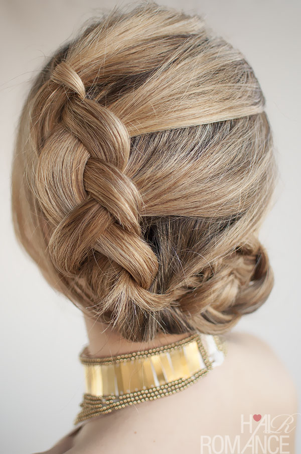 Hair Romance - 30 Buns in 30 Days - Day 8 - Dutch braided bun hairstyle