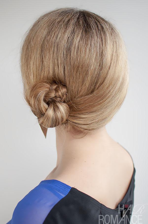Hair Romance - 30 Buns in 30 Days - Day 9 - Side Braid Bun Hairstyle