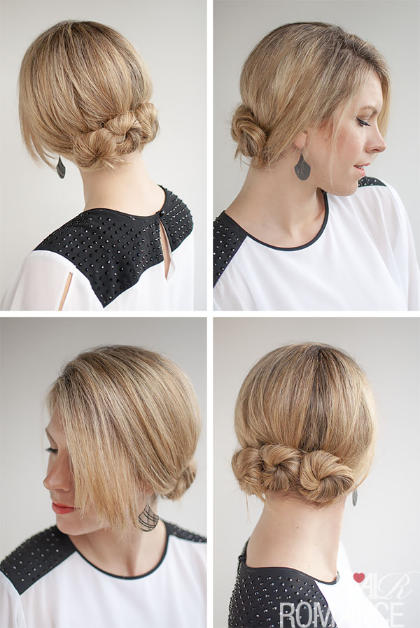 Bun hairstyle tutorial - triple twisted buns