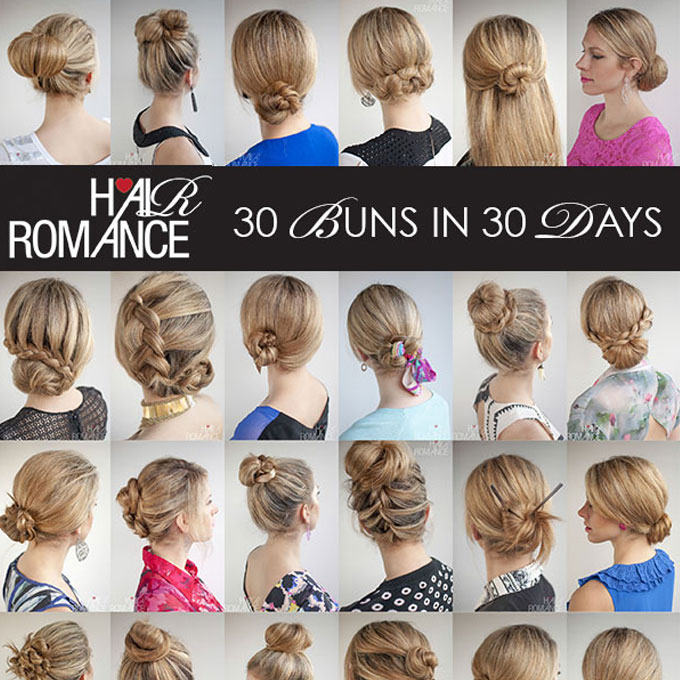Day Hairstyles For Long Hair: The 30 Buns In 30 Days Hairstyle Ebook Is Here!