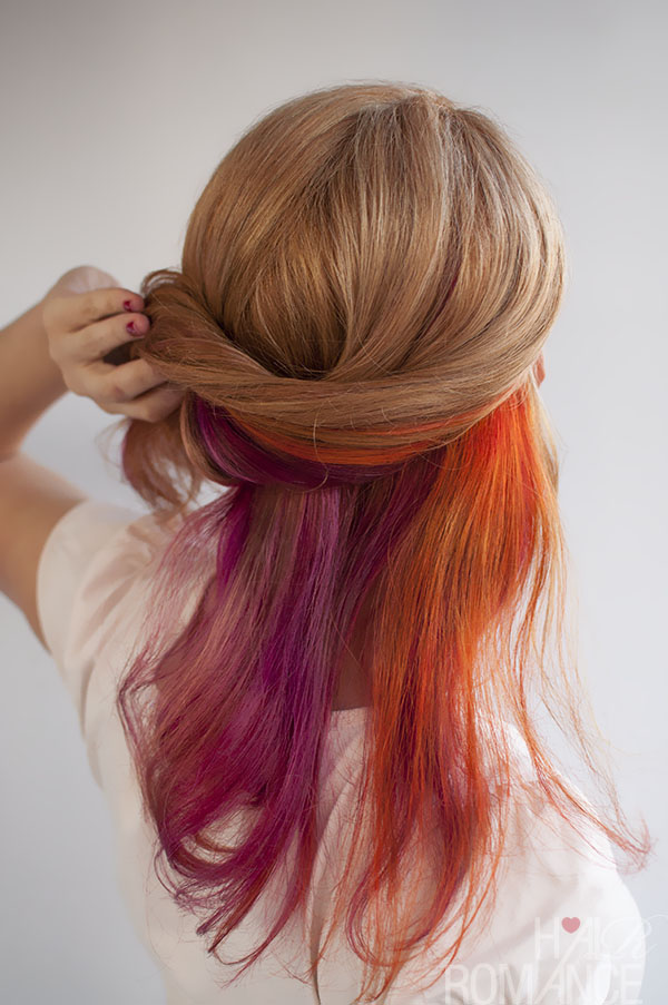 Hair Romance - bright multi colour hair