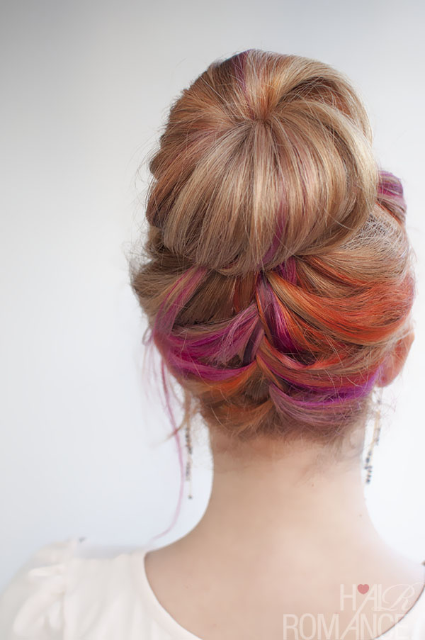 Hair Romance - multi colour french braid hair