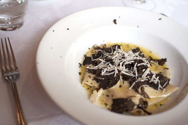 Truffle Pasta at Lucios Paddington