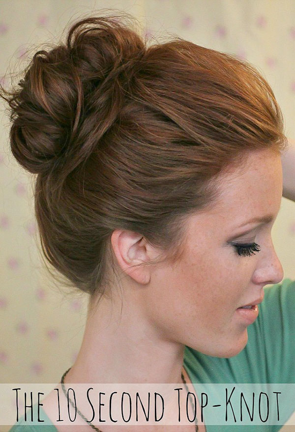 The Freckled Fox 10 second top knot
