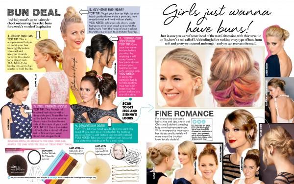 Hair Romance in FAMOUS magazine