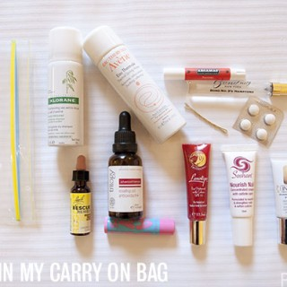 What's in my carry-on beauty bag for long haul flights