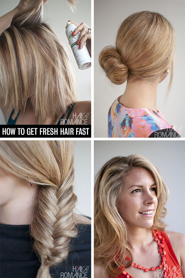 Hair Romance - how to fake fresh hair