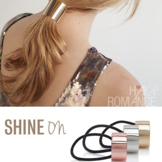 Shine on with metallic accessories and shimmering highlights