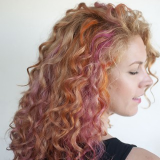 New hair – Pink and orange curls!