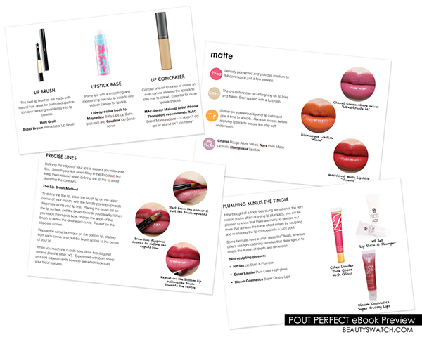 Pout Perfect by Beauty Swatch lisptick ebook
