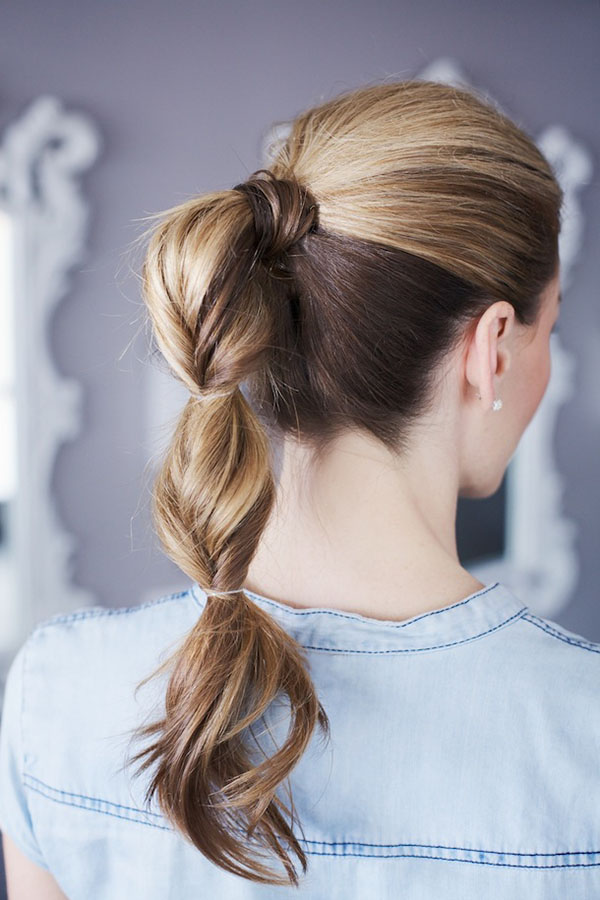 Topsy tail ponytail
