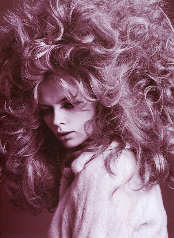 Big Hair Friday - Julia Stegner - Richard Burbridge in Vogue Italia