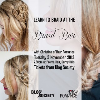 Learn to braid with me at the Braid Bar