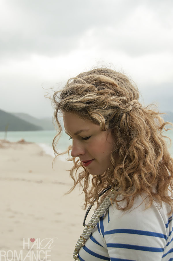 Hair Romance - Braided half crown hairstyle in curly hair