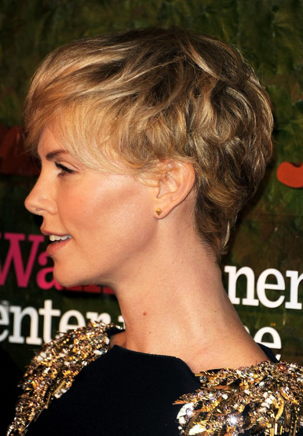 Hair Romance - Charlize Theron - Pixie cut hairstyle side view