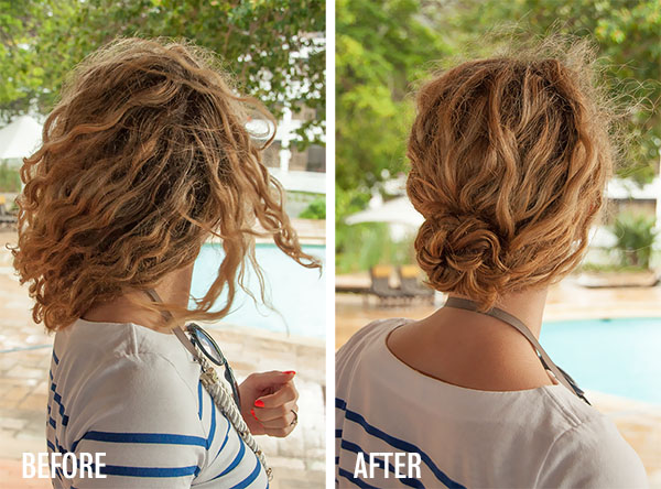 Hair Romance - Easy Braided Bun hairstyle tutorial - before and after