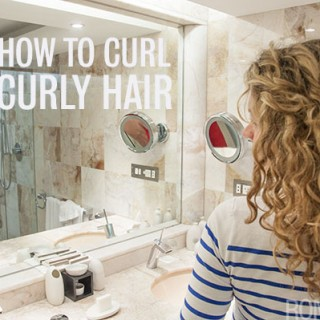 How to re-style curly hair on the second day – new video tutorial