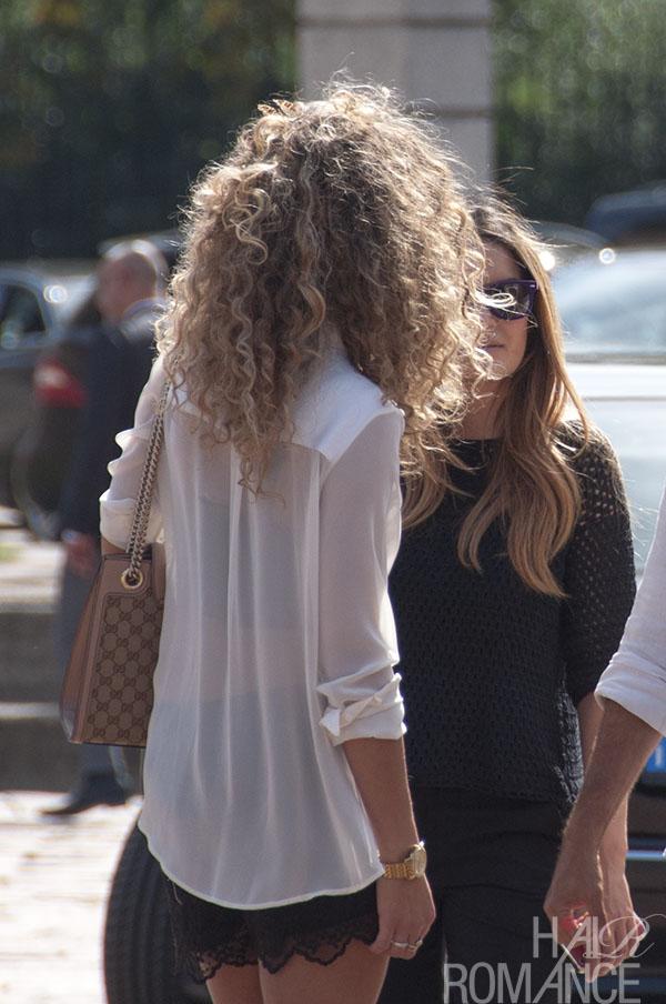 Hair Romance - Street style hair - MIlan Fashion Week 1
