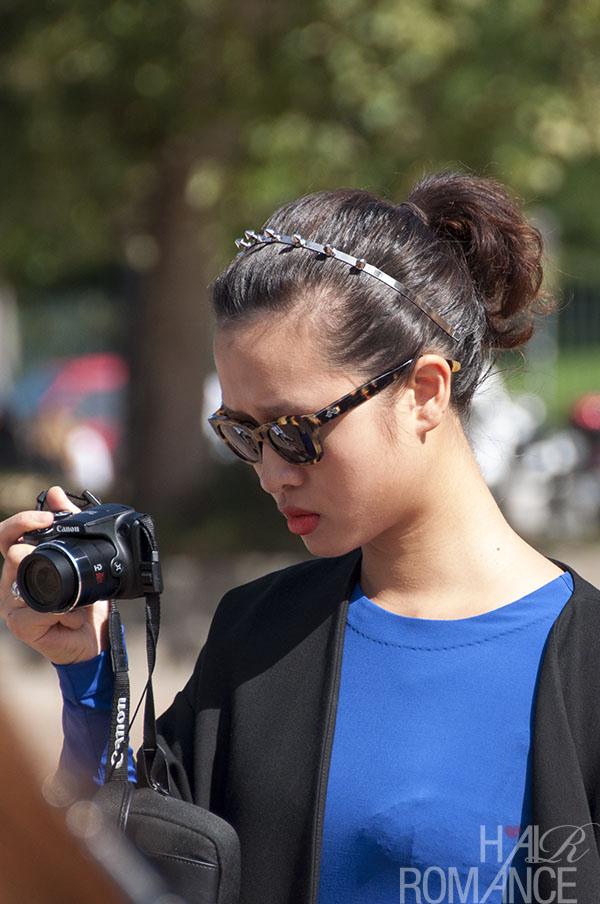 Hair Romance - Street style hair - MIlan Fashion Week 4