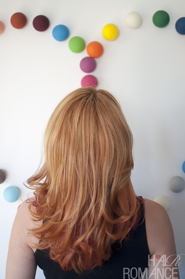 Hair Romance - the colour mullet - business on top