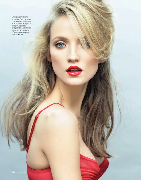 Big Hair Friday - beauty shoot from Elle Russia