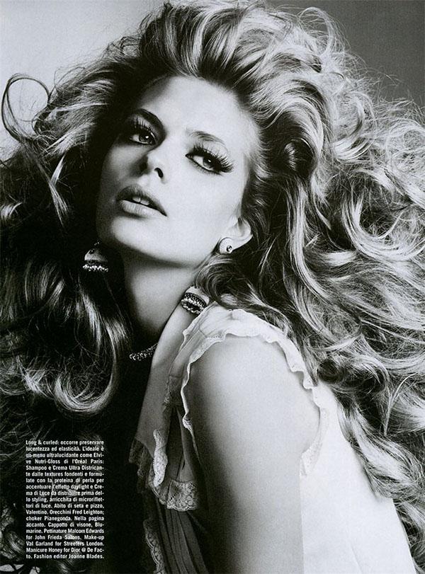 Big Hair Friday - Julia Stegner Ph. Richard Burbridge Vogue Italia September 2005 - 2