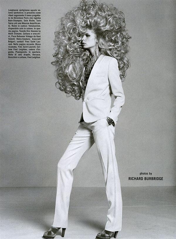 Big Hair Friday - Julia Stegner Ph. Richard Burbridge Vogue Italia September 2005 - 3