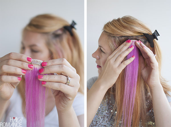 Hair Romance - How to clip in hair extensions