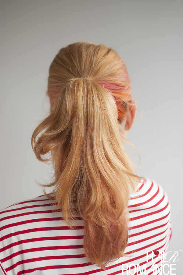 Hair Romance - How to fake a long ponytail without extensions