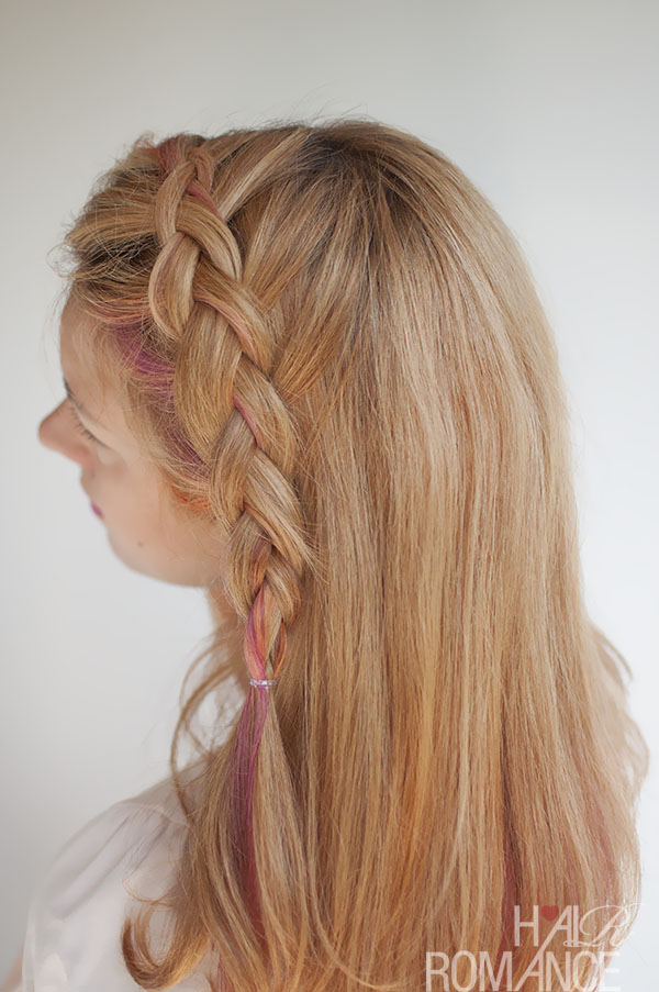 Hair Romance - Side-swept Dutch braid tutorial