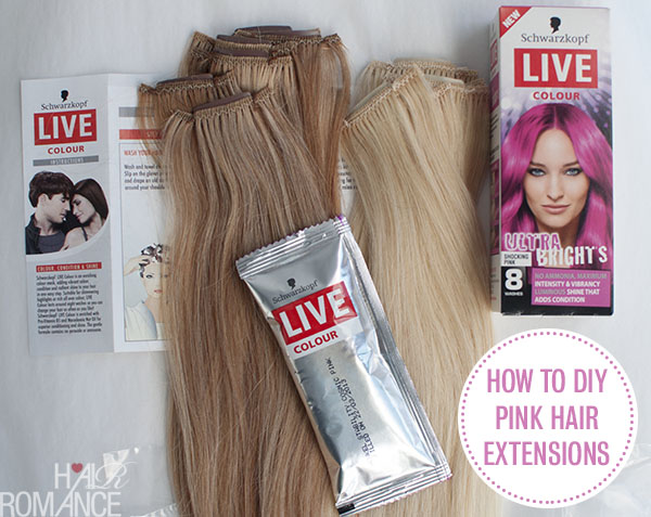 Hair Romance - how to DIY pink hair extensions