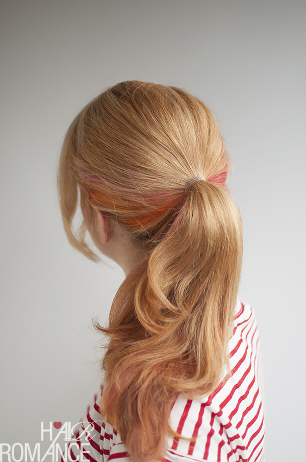 Hair Romance - how to fake a long ponytail