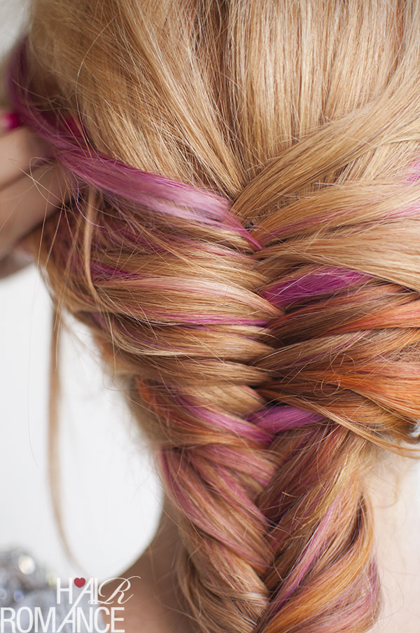 Hair Romance - pink hair in a fishtail braid