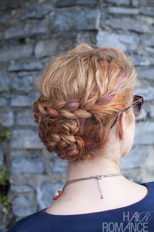 Hair Romance - twist braid updo