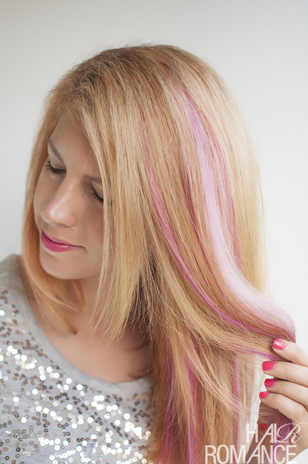 Hair Romance - with DIY pink hair extensions