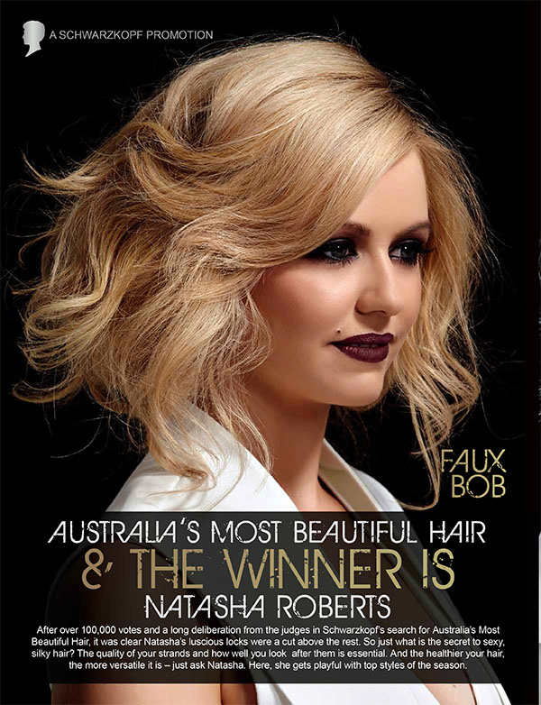 Schwarzkopf Australia's Most Beautiful Hair -  Faux bob