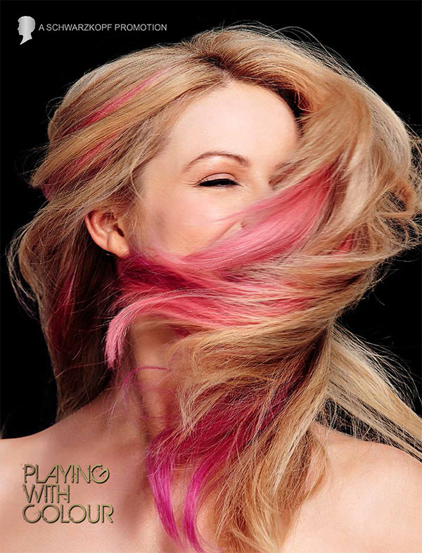 Schwarzkopf Australia's Most Beautiful Hair - pink hair