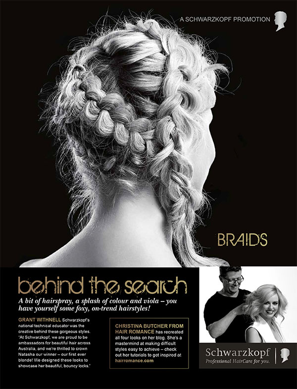 Schwarzkopf Australia's Most Beautiful Hair - braids