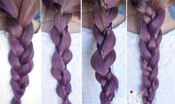 Hair Romance - 3 strand plait braids - 4 ways
