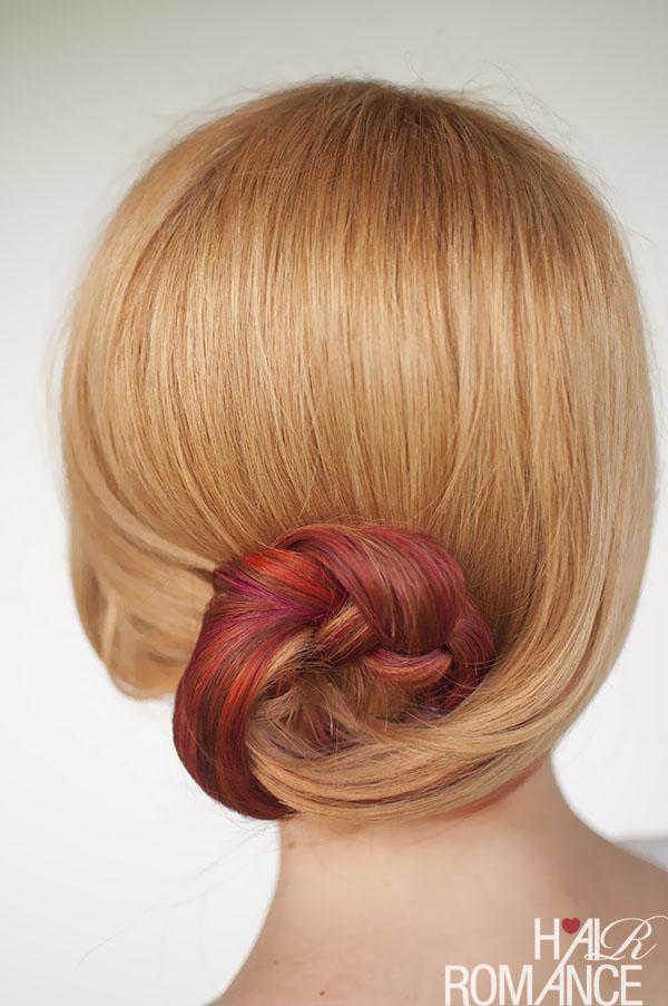 Hair Romance - Curved braid bun hair tutorial